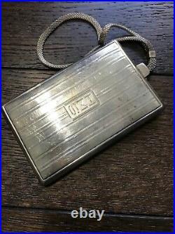 Antique Money Holder, Coins, Card Case Wallet Wristlet Marked Sterling Silver
