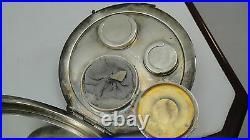 Antique Victorain Art Nouveau Sterling Silver Coin Purse Compact
