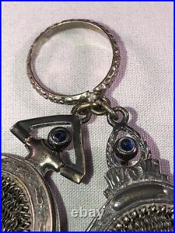 Antique Victorian Engraved Silver Chatelaine Chain Mesh Coin Purse Whiting Davis