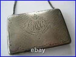 Antique Victorian Sterling Change Coin Purse Clutch Bag Collectable Elegant