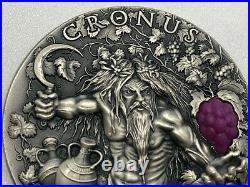 CRONUS TITANS 3D 2 oz $2 Ultra High Relief Antique Silver Coin 2018 Niue