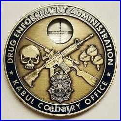 DEA Drug Enforcement Administration KCO Kabul Country Office w Sniper Scope Coin