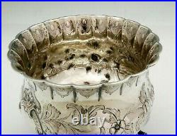 EOFF & SHEPARD New York Coin Silver FOOTED BOWL Naturalistic Branches