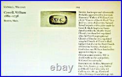 Early American Coin Silver Scissor Sugar Tongs WC Boston Massachusets c 1700