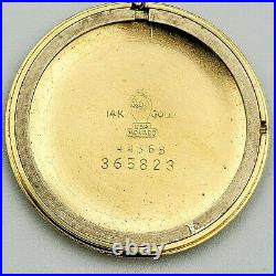 Elegant MOVADO Watch 14K Gold Coin Edge Design Bezel Mechanical Wristwatch Swiss