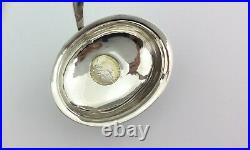 GEORGIAN SOLID SILVER TODDY PUNCH LADLE 12 INCH COIN SET P & A Bateman 1791
