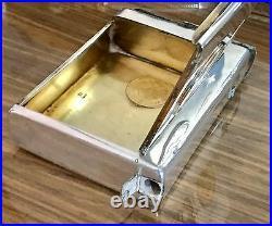 Genuine Russian Imperial Silver 84 Gold Coins Rouble Vesta Cigarette Case