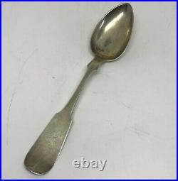 Hannah Robinson Delaware Coin Silver Spoon Early American Female Silversmith 7