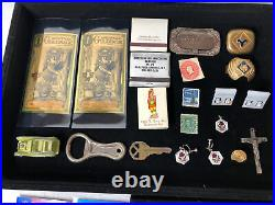 Junk Drawer Lot Silver Coins Gold Antiques Jewelry 1946 Walking Liberty Stamps