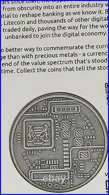 Münze 999 Silber Crypto Series 2020 ## Bitcoin # Antique Finish ## sehr selten