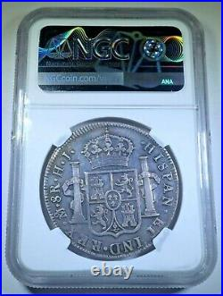 NGC AU Details 1810 Spanish Mexico Silver 8 Reales Antique Colonial Dollar Coin