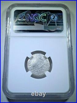 NGC Genuine El Cazador Shipwreck 1766 1 Reales Antique 1700's Silver Pirate Coin