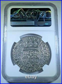 NGC Reygersdahl Shipwreck 1742 Mexico Silver 8 Reales Antique 1700's Dollar Coin