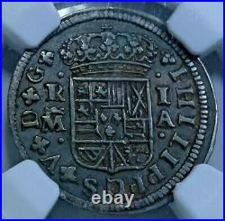 NGC VF-30 1726 Spanish Silver 1 Reales Genuine Antique 1700's Pirate Cross Coin