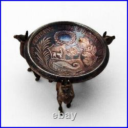 Peruvian Silver Figural Llama Salt Dish Coin Bowl