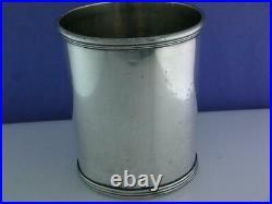 RARE Coin Silver ASA BLANCHARD Mint Julep Cup LEXINGTON KY Kentucky c1808-1838