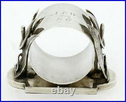 RARE SCHULZ & FISCHER San Francisco Coin Silver CALLA LILY NAPKIN RING