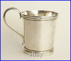 SAMUEL BELL Coin Silver Mug Gift of CONFEDERATE GENERAL EARL VAN DORN Civil War