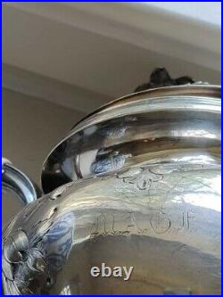 SELLING CLOSE TO MELT VALUE! 755 gram engraved antique coin 90% silver teapot