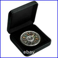 Signs of the Zodiac 2020 $5 5oz Silver Antiqued Coloured Coin 388 MADE