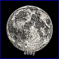 Supermoon 1 oz. 999 Silver Antiqued Finish Worry, Gift Or Reminder Coin WithOMP