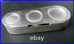 Vintage Tiffany & Co Makers Sterling Silver Triple Coin Holder Magnetic Base