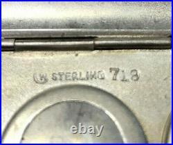 Vtg VIctorian Sterling SIlver Coin Case Holder Key Fob Monogram Ornate 70.46g